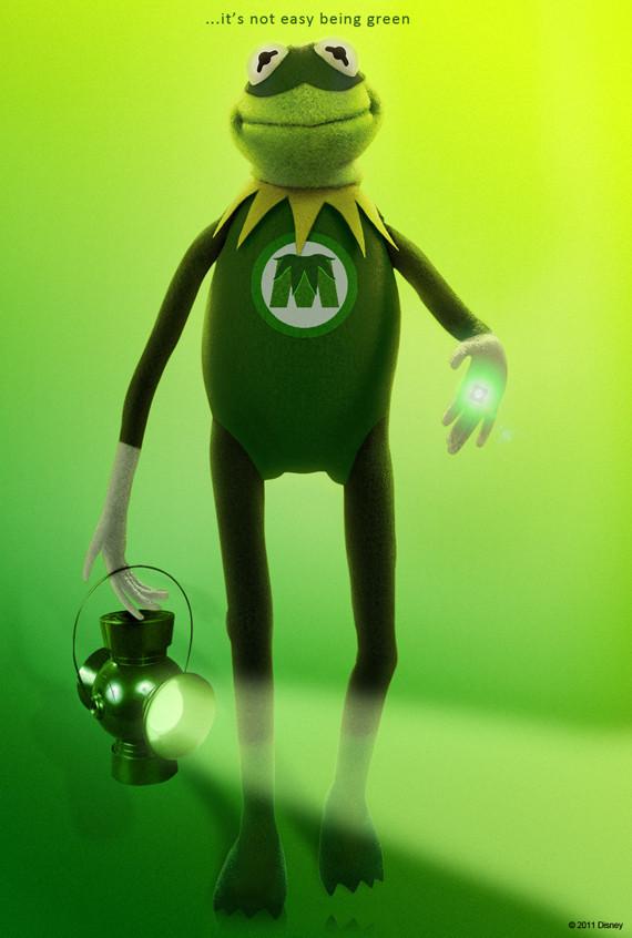 Kermit as Green Lantern