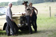 Hershel and Maggie Greene and Rick Grimes