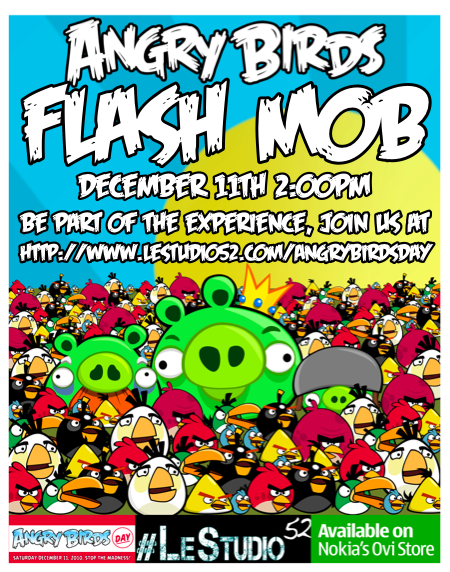 Angry Birds Day flash mob 2011