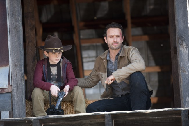 Carl Grimes and Rick Grimes Episode 212 Walking Dead