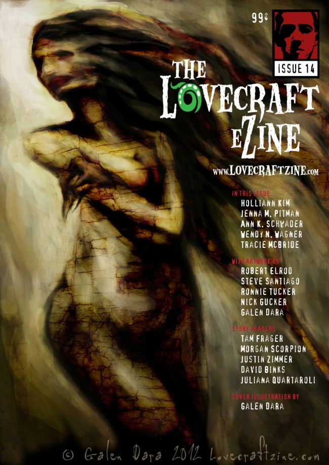 lovecraft ezine issue 14 cover by galen dara text by leslie herzfeld