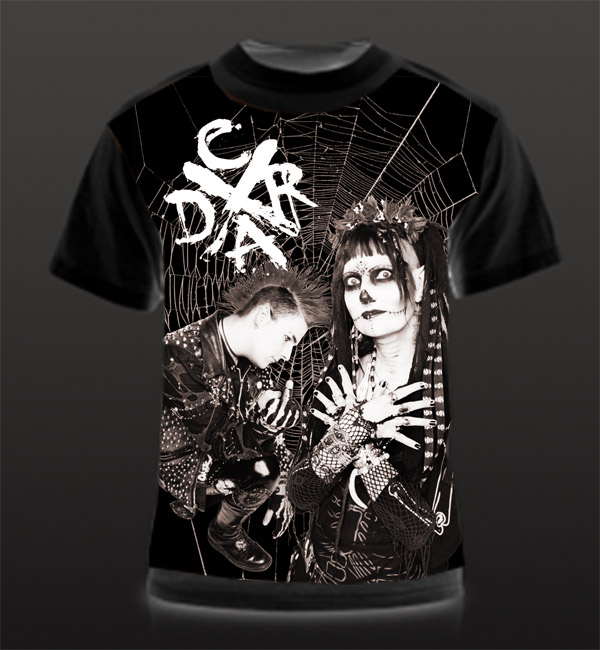 california deathrock kickstarter goth punk spiderweb shirt