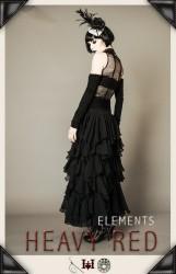 gothic ruffle skirt