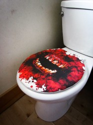 redcoversme bloody teeth toilet cover