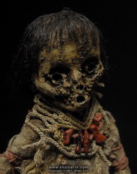 shain erin creepy dolls Mummy Art Doll Sculpture M30