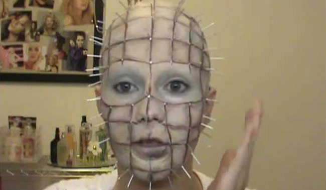 pinhead hellraiser makeup tutorial