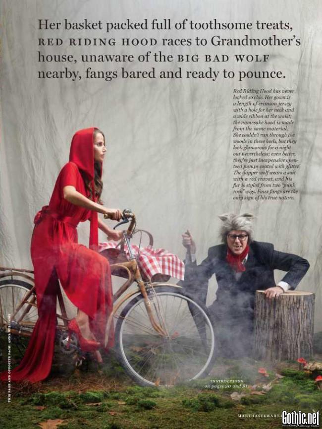 Martha Stewart Halloween Red Riding Hood and Wolf