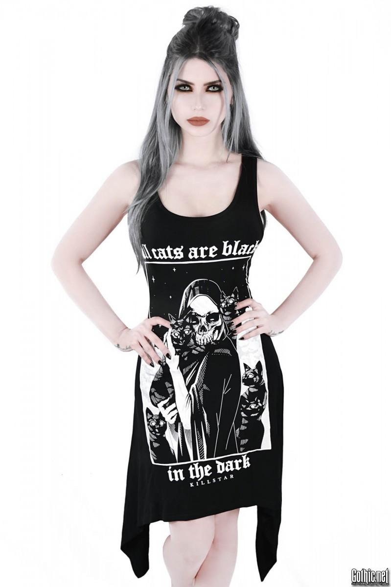 KillStar Black Cat Lace-Up Tunic