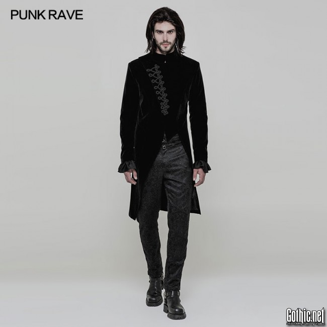 PunkRave Goth Men's Coat