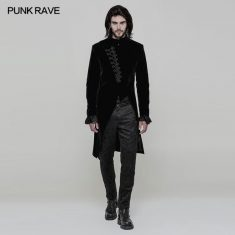PunkRave Goth Men's Coat